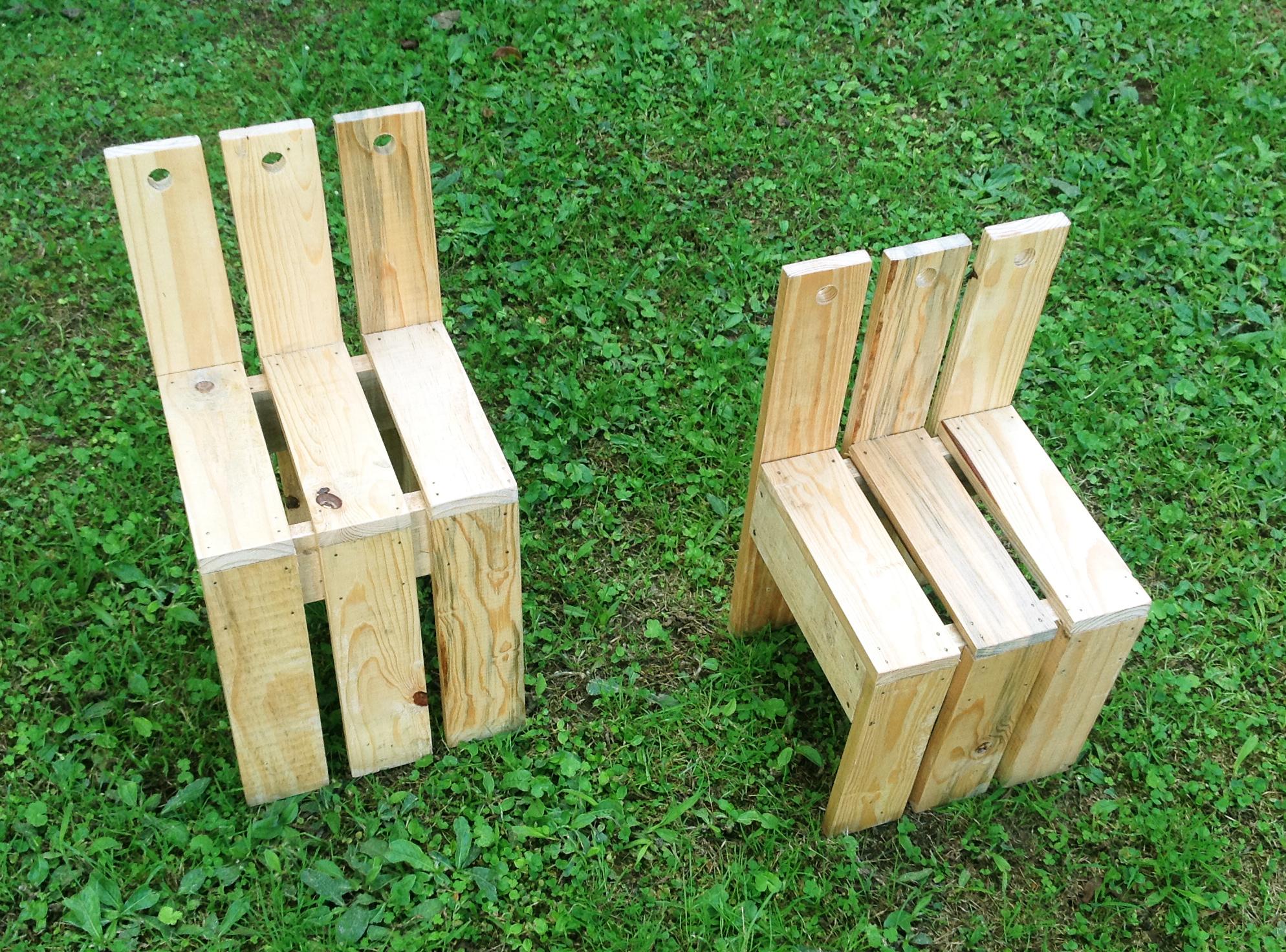 Silla para ni os de tarimas de madera yuso for Tarimas de madera para muebles