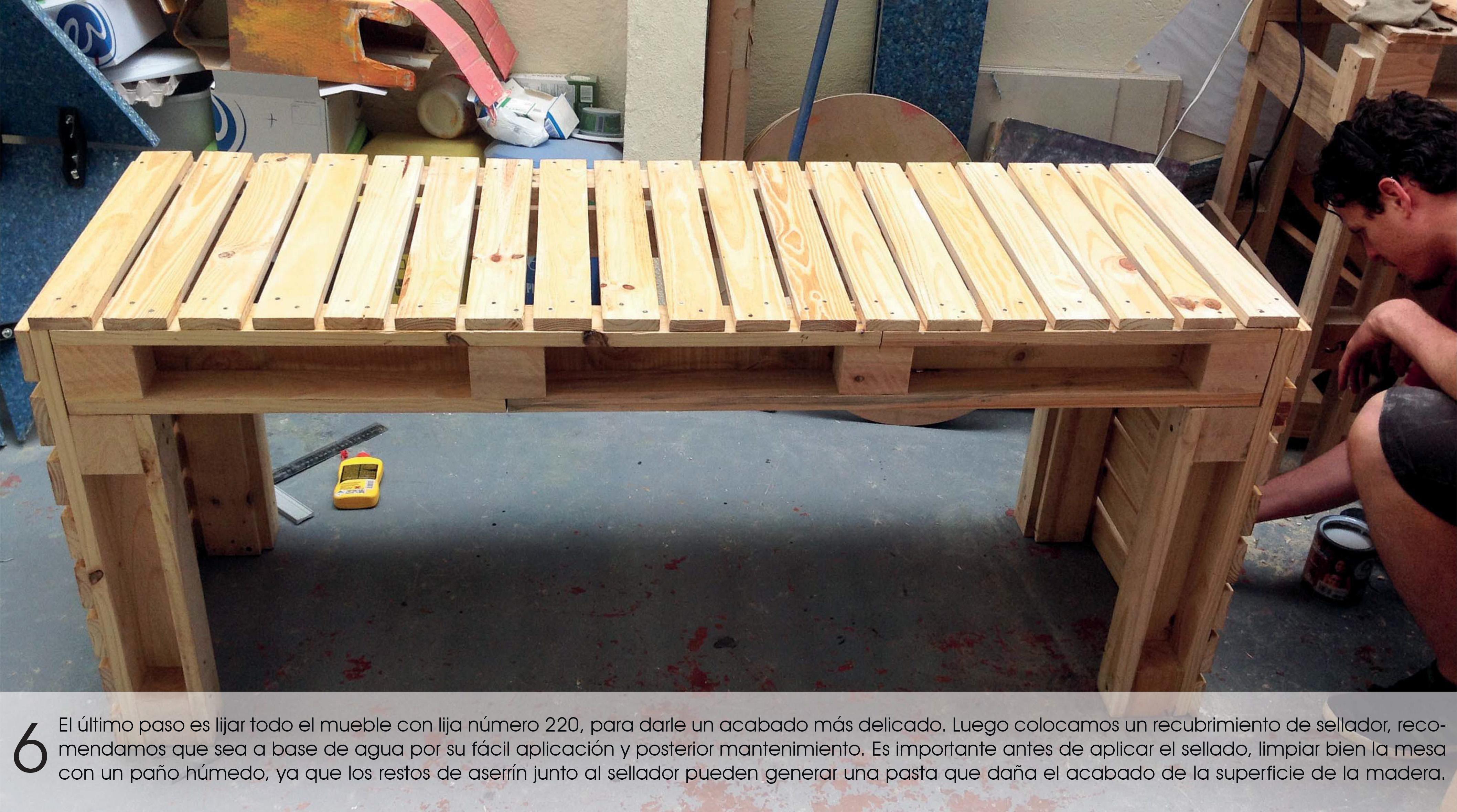 6 pasos hacer una mesa para oficinas con tarimas yuso - Como hacer una tarima para mesa camilla ...